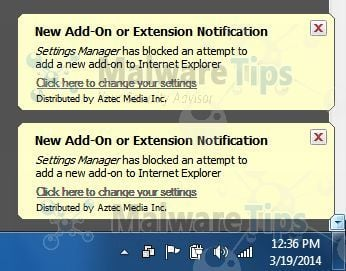 [Image: Settings Manager by Aztec Media virus]