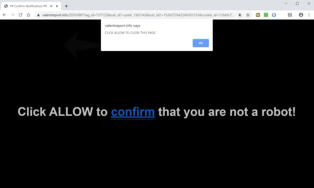 Image: Underlined Words ads in Google Chrome