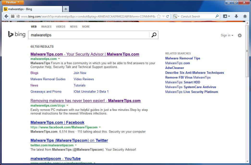 Remove Bing Search Engine