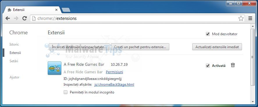[Image: FreeRide Games Toolbar Chrome extension]