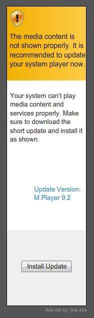 [Image: Update Version: M. Player 9.2]