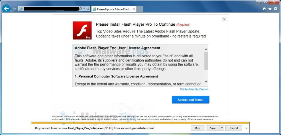 Remove Please Install Flash Player Pro To Continue Virus