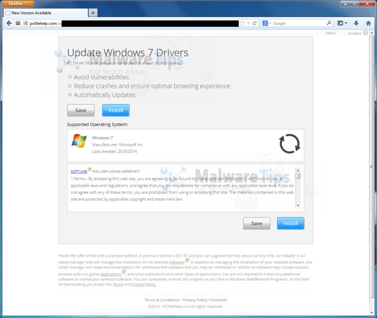 "Viral News Update: Remove ""Update Windows 7 Drivers"" Popup Ads (Virus Removal"