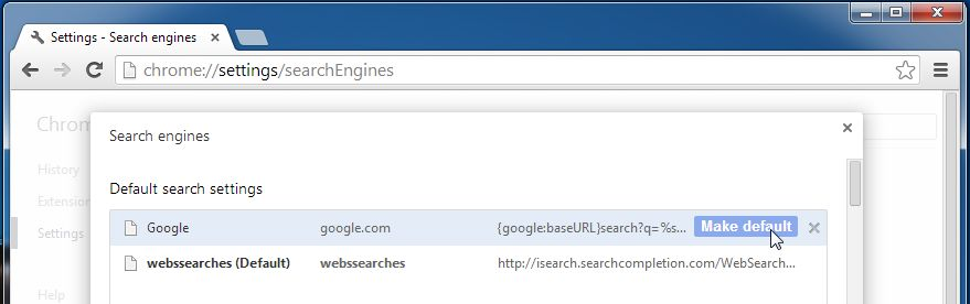 [Image: WebsSearches Chrome redirect]