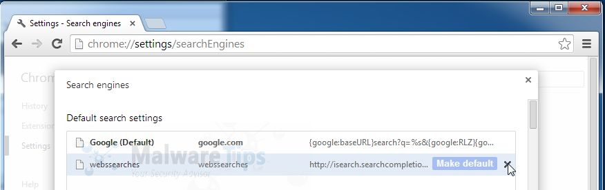 [Image: WebsSearches Chrome removal]
