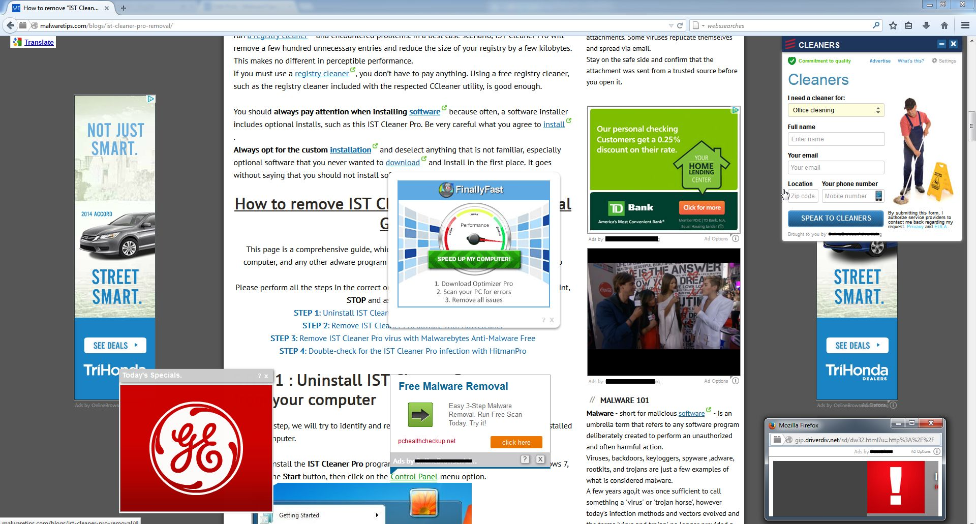 Ads by Online Browser Advertising virus
