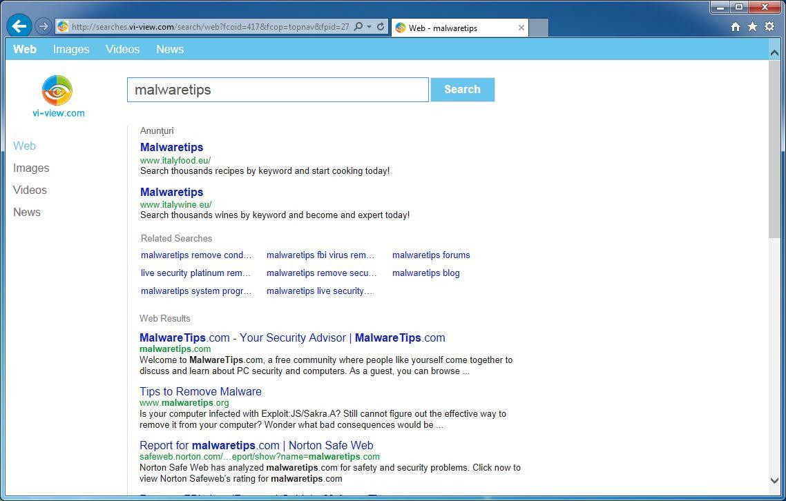 Remove Vi-view.com and searches.vi-view.com (Removal Guide)