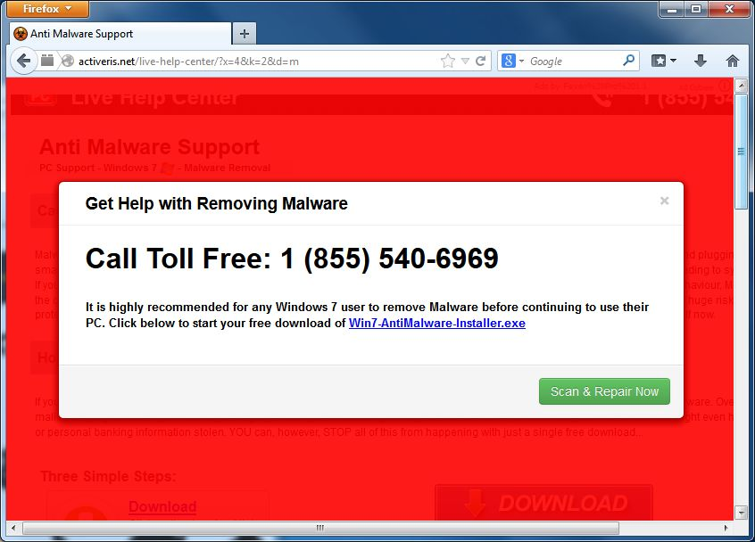 If you are seeing random pop up ads from activeris net within internet