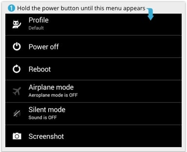 [Image: Android Power off menu]