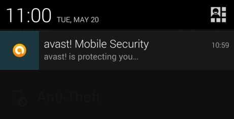 [Image: Avast Mobile Security protecting Android phone]