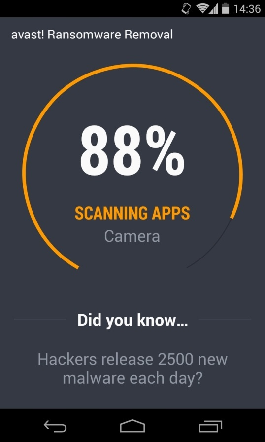 [Image: Avast Ransomware Removal scan]