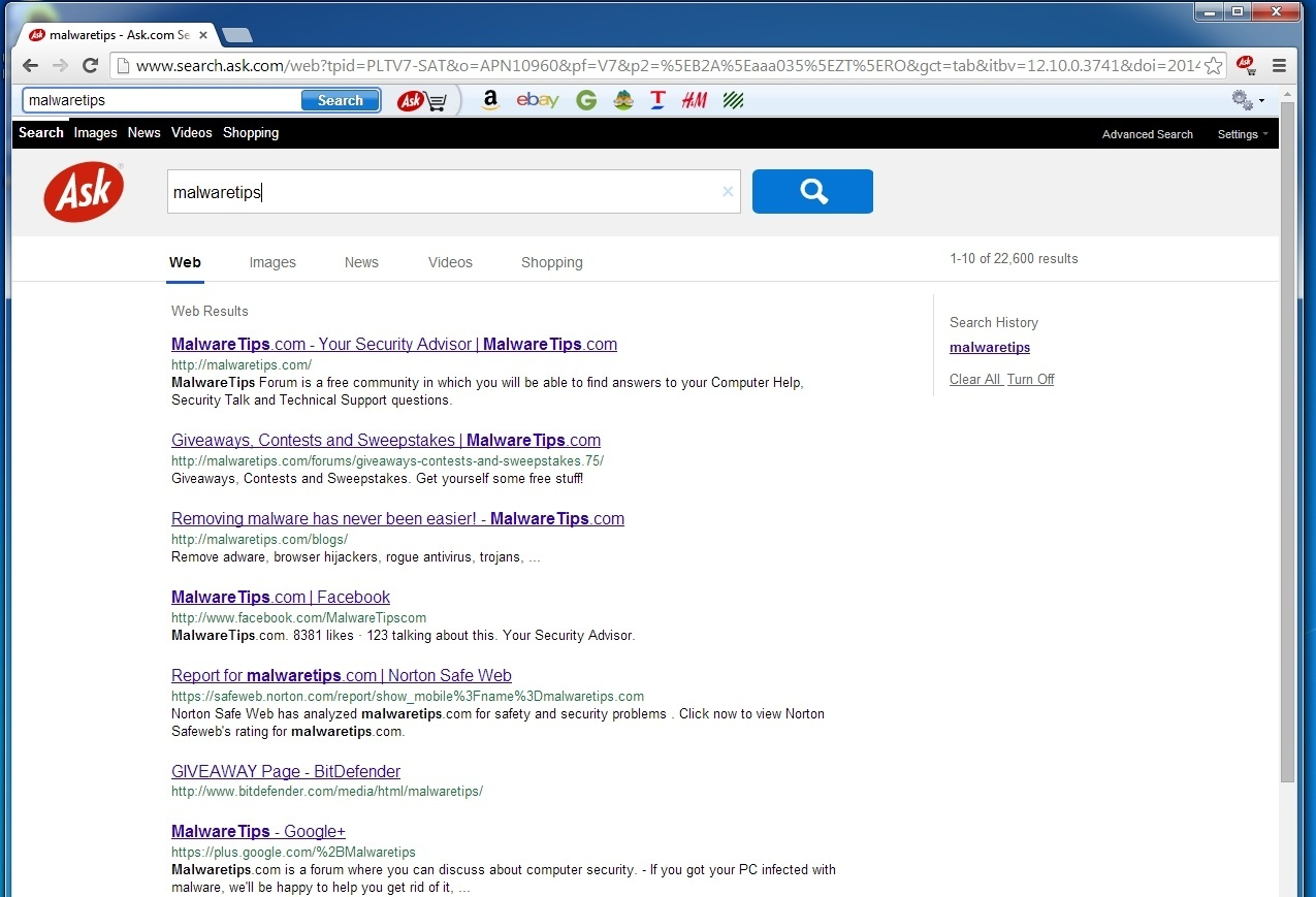 """... engine to search.ask.com , and install the """"Ask Shopping Toolbar"""