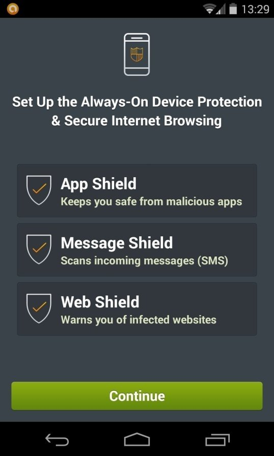 [Image: Avast Mobile Security on Android phone]