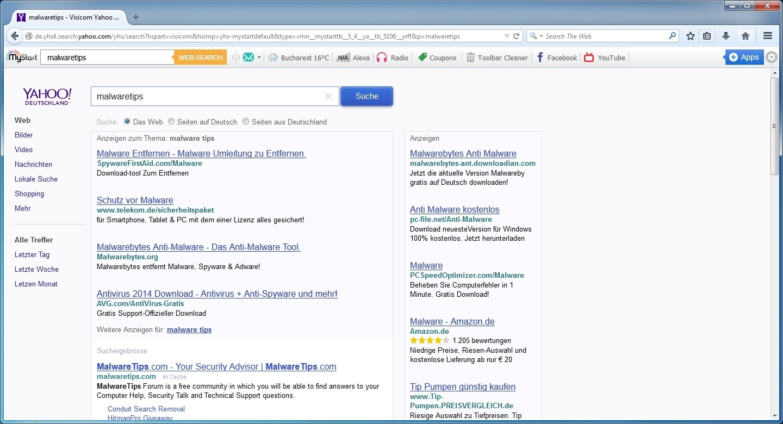 How To Fix Yahoo Temporary Errorsstep3 Deyhs4archyahoo Virus Cookies X8 [google  Chrome