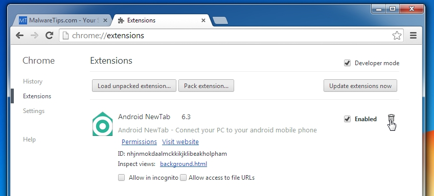 chrome browser extensions android