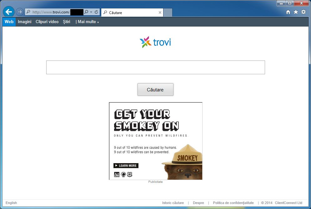 Trovi Search redirect