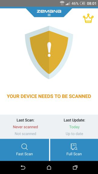 Zemana Mobile Antivirus Full Scan