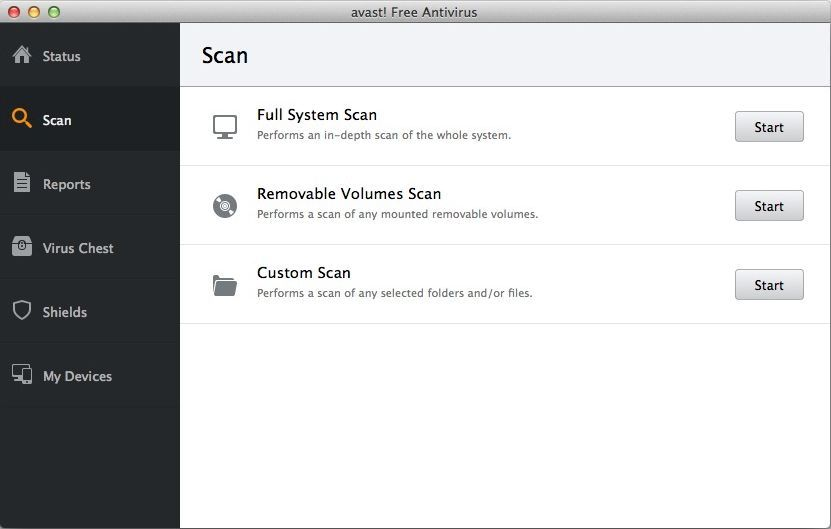 Avast for Mac Scan