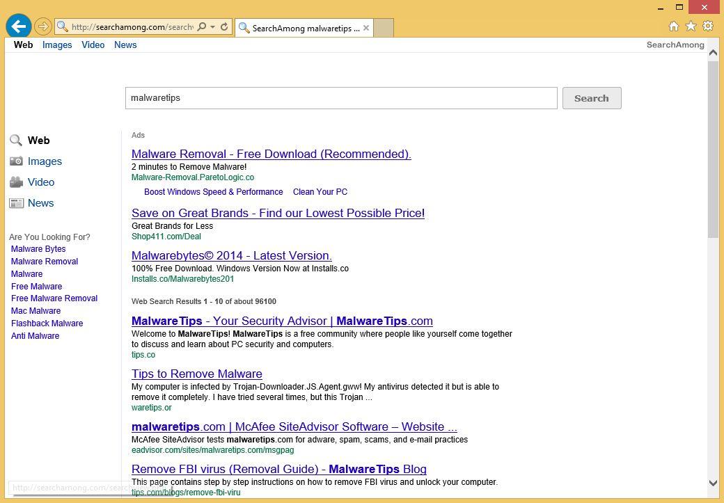Remove SearchAmong.com redirect (Virus Removal Guide)