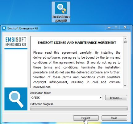 Emsisoft Emergency Kit program