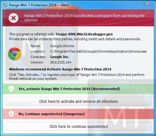 """Remove """"Rango Win 7 Protection 2014"""" virus (Guide)"""