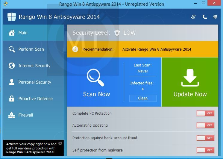 Rango Win 8 Antispyware 2014 Removal Guide