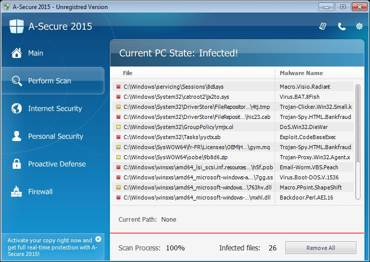 "Remove ""A-Secure 2015"" virus (Malware Removal Guide)"