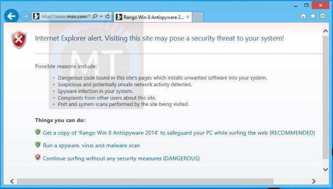 Rango Win 8 Protection 2014 Removal Guide