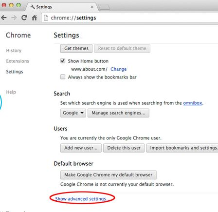 [Image: Click on Show advanced settings link]