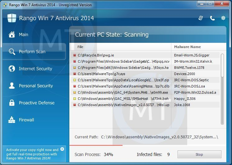 """Remove """"Sirius Win 7 Antivirus 2014"""" virus (Uninstall Guide)"""