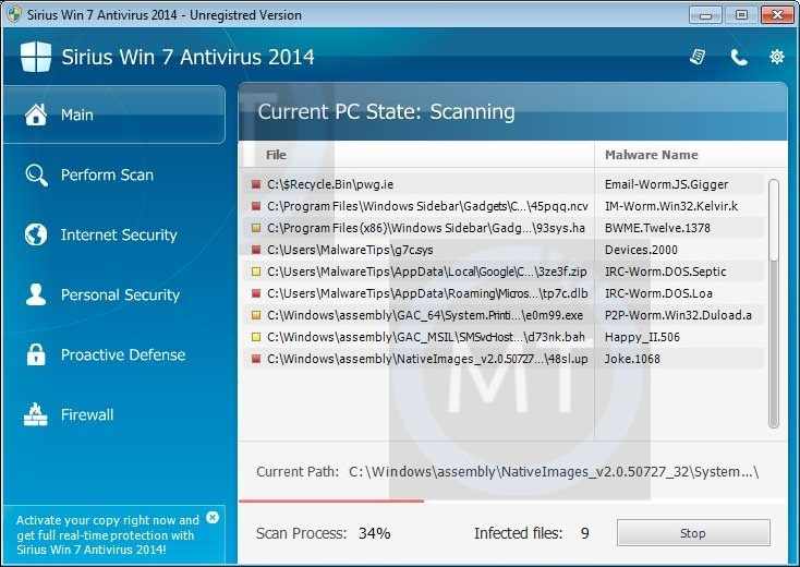 "Remove ""Sirius XP Protection 2014"" virus (Guide)"