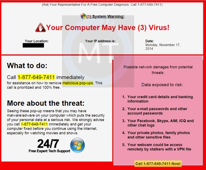 Your Computer May Have 3 Virus Removal