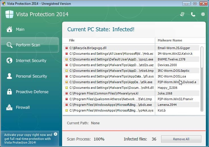 Remove Zorton Vista Protection 2014 virus (Guide)