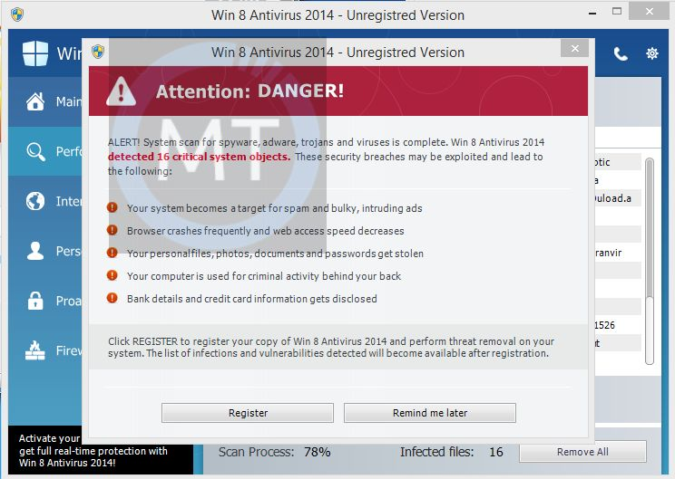 [Image: Zorton Win 8 Protection 2014 Alert]