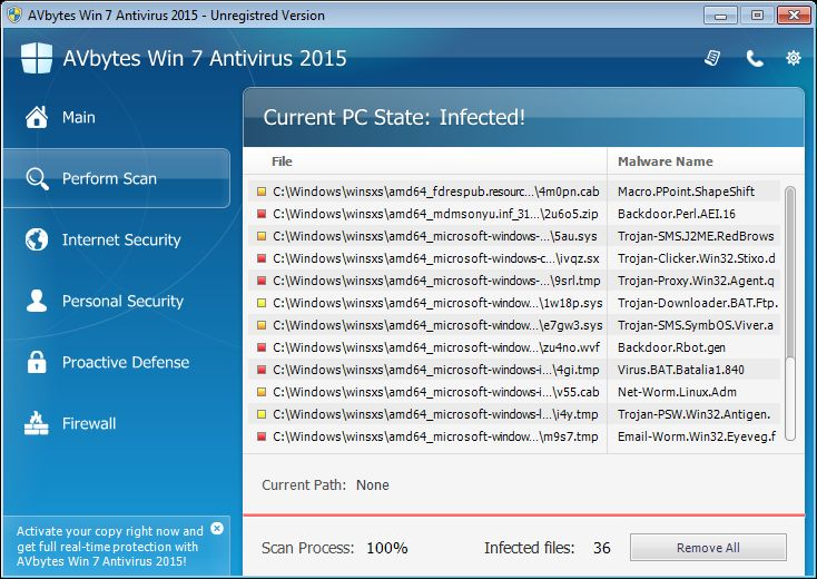 Remove AVbytes Win 7 Antivirus 2015 virus (Guide)