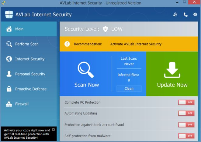 [Image: AVLab Security XP Protection 2015 Alert]