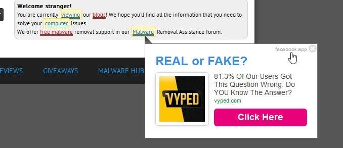 popup ad virus