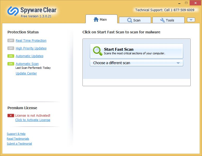 Spyware Clear malware