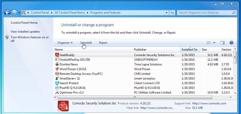 How to remove COMODO GeekBuddy (Windows Removal Guide)
