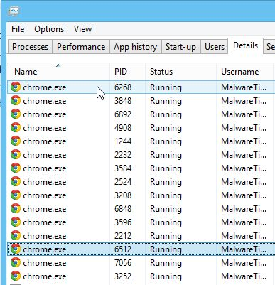 kill chrome.exe from command prompt