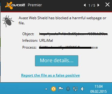 URL:MAL detected by Avast Antivirus. Is this a virus? (Removal Guide)