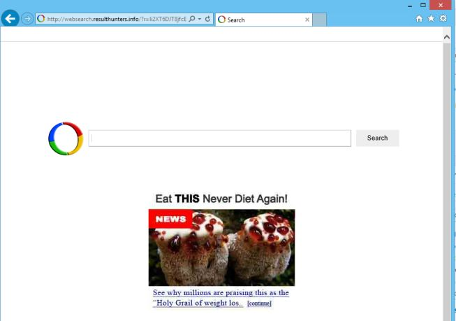 Remove Websearch.resulthunters.info virus (Free Guide)
