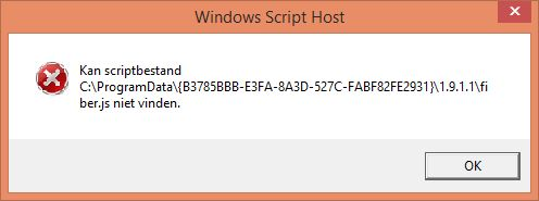 error windows script host