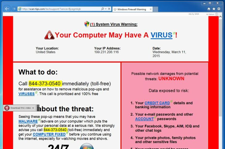 Remove Quot Windows Browser Warning Quot Virus Support Scam
