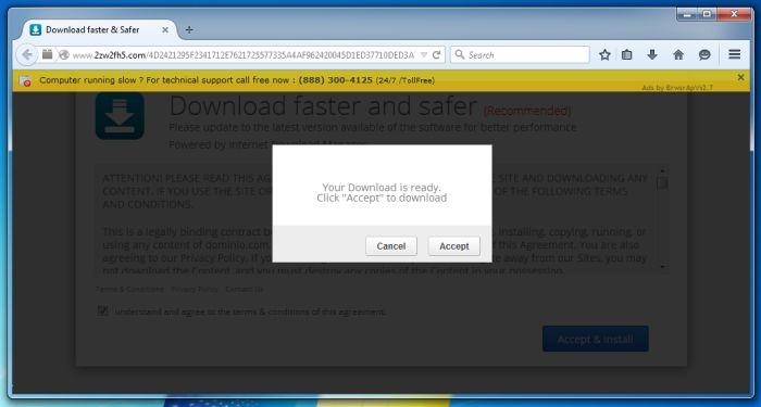 Remove 2zw2fh5 com pop-up virus (Fake Flash Update)