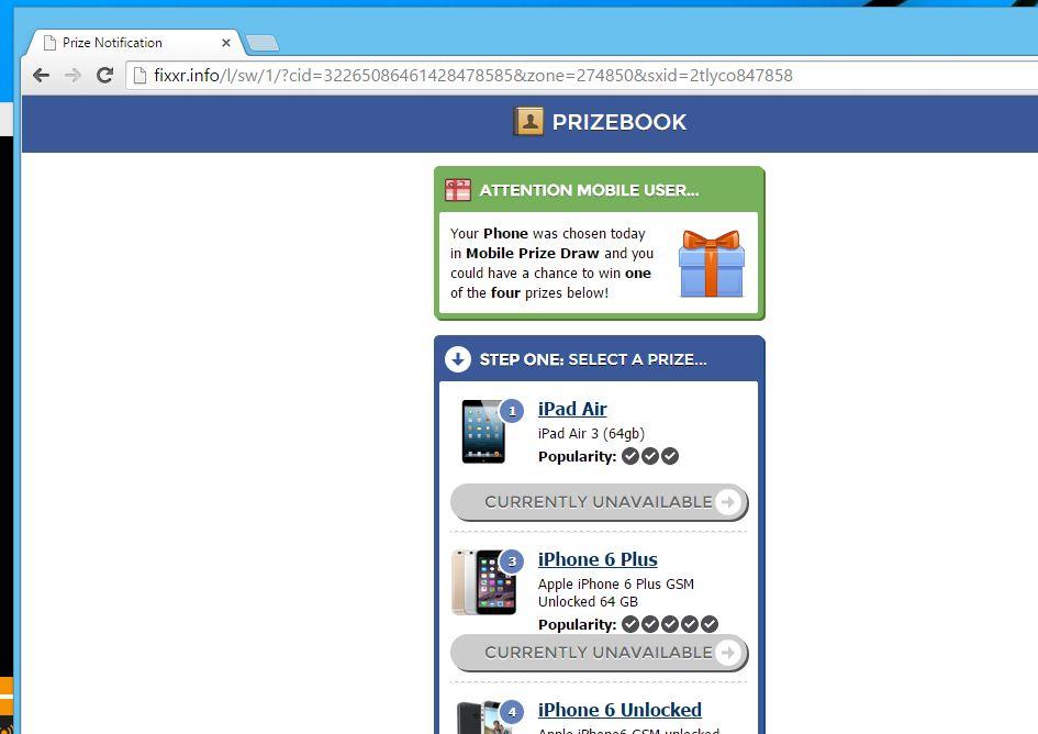 Remove fixxr.info pop-up ads (Virus Removal Guide)