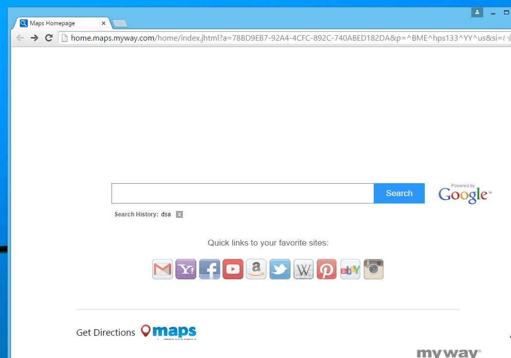 Remove Home.maps.myway.com hijack (Virus Removal)