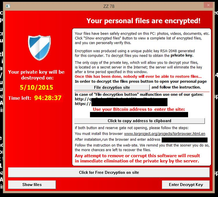 Alpha Crypt ransomware