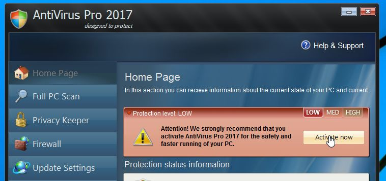 Antivirus Pro 2017 Activation