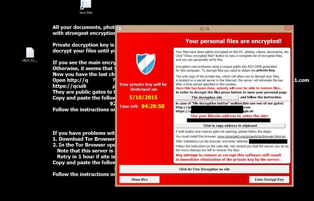 remove u201cyour personal files are encrypted u201d ransomware removal guide rh malwaretips com